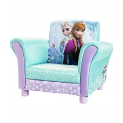 Fotoliu cu cadru din lemn Disney Elsa si Anna
