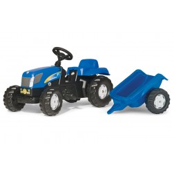 Tractor Cu Pedale Si Remorca ROLLY TOYS 013074 Albastru