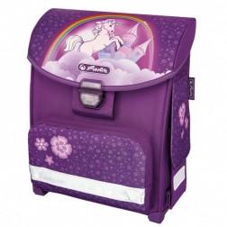 Ghiozdan neechipat Herlitz Smart Unicorn si minge cadou