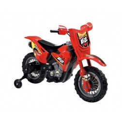 Motocicleta electrica copii Enduro Motocross 6V rosie telecomanda control parinte - Globo