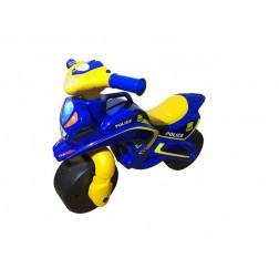 Motocicleta de impins MyKids Police Music Albastru cu Galben