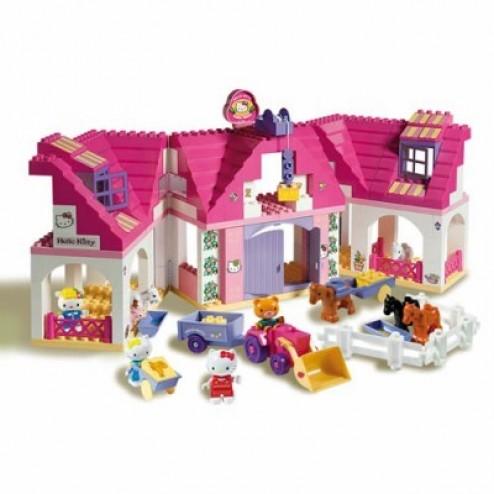Set constructie Unico Plus Hello Kitty Casuta mare cu ferma 136 piese
