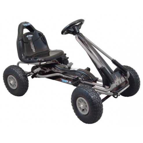 Kart cu pedale Speed Fever Grey