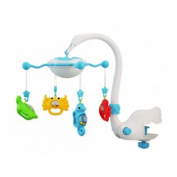 Carusel muzical cu proiector Baby Mix BL-BT9001 Blue
