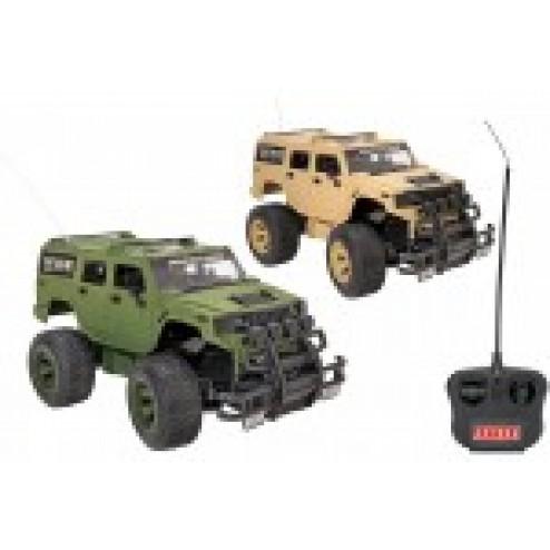Masinuta de teren Armata cu telecomanda Globo Spidko 39389 scara 1:16 verde khaki sau bej desert