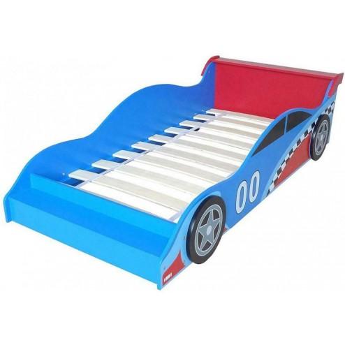 Pat cu cadru din lemn Racing Car - Style