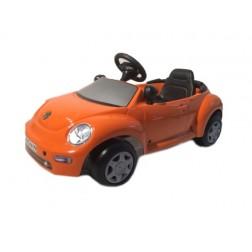 Masinuta cu pedale copii ToysToys Volkswagen New Beetle Portocaliu
