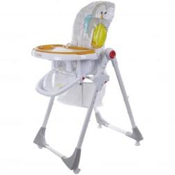 Scaun de masa Comfort Lux - Sun Baby - Gri/Portocaliu