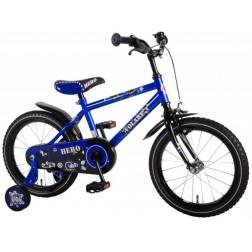 Bicicleta pentru baieti 16 inch, cu roti ajutatoare, Volare Hero