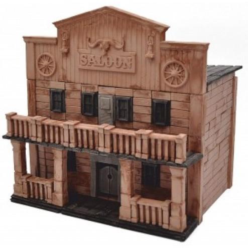 Kit constructie caramizi Wise Elk Saloon Texan 270 piese reutilizabile