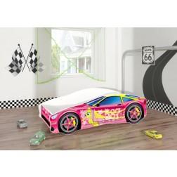 Pat Tineret MyKids Race Car 08 Pink-140x70