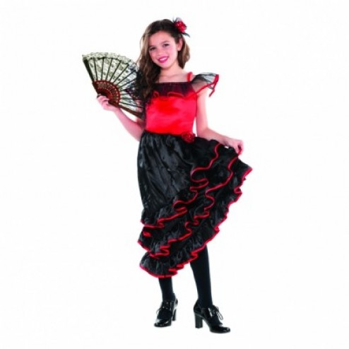 Costum Carnaval Copii Dansatoare Flamenco 3-5 ani