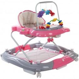 Premergator Pisicuta cu sistem de balansare - Sun Baby - Roz cu Gri