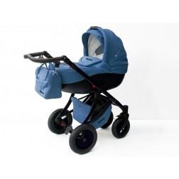 Carucior Pentru Copii 3 In 1 Mykids Amber Blue-Black