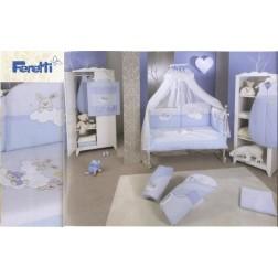 Lenjerie de pat Feretti Duetto -Rabbit Blue