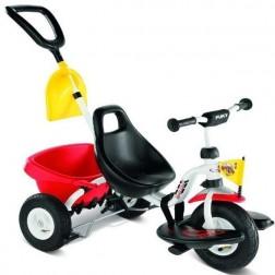 Tricicleta cu maner, alb, 2+, Puky