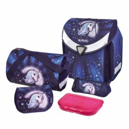 Ghiozdan echipat Herlitz Flexi Plus Starlight si minge cadou