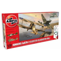 Kit constructie Airfix set Junkers JU87R-2 si Gloster Gladiator