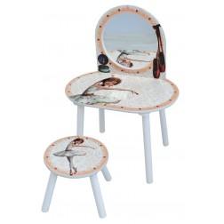 Masuta de frumusete cu scaunel Ballerina