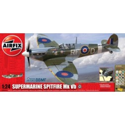 Kit constructie si pictura avion Supermarine Spitfire Mk VB scara 1/24