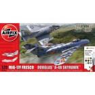 Kit constructie Avion Mig 17 & Douglas Skyhawk Dogfight Double, Airfix