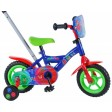 Bicicleta pentru baieti 10 inch, cu maner, roti ajutatoare, PJ Masks