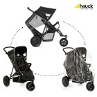 Carucior Freerider SH12 Black dublu pentru gemeni sau frati - Hauck