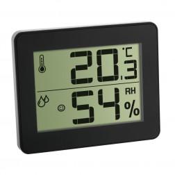 Pachet economic 3 x Termometru si Higrometru digital de camera extra-plat negru TFA 30.5027.01