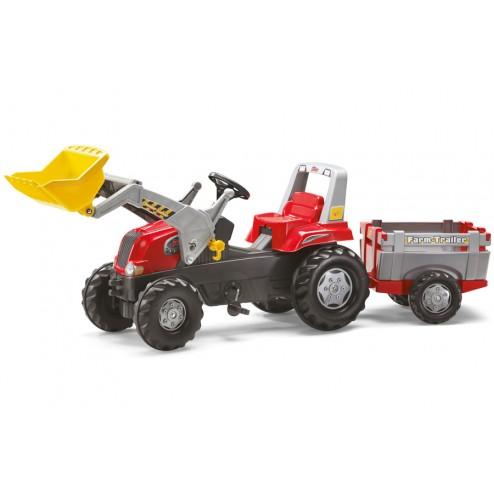 Tractor Cu Pedale Si Remorca pentru copii - Rolly Toys