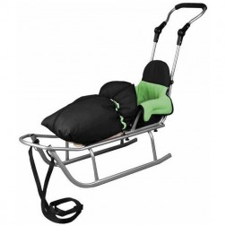 Sanie Rider Plus cu Sac de iarna Speedy Verde - Baby Dreams