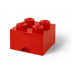 Cutie depozitare LEGO 2x2 cu sertar, rosu (40051730)
