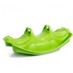 Balansoar din plastic pentru copii Crocodil Verde Globo