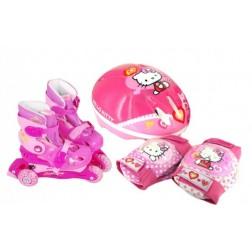Set role cu accesorii protectie incluse Saica Hello Kitty marimi reglabile de la 31 la 34