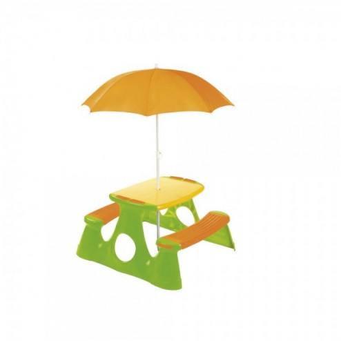 Masuta picnic pentru copii cu umbrela - Paradiso Toys