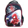 Ghiozdan clasele I-IV Spiderman bleumarin buzunar oblic Pigna si minge cadou