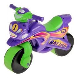 Motocicleta de impins MyKids Racing Mov cu Verde
