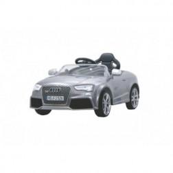 Masinuta electrica copii Audi RS5 gri metalizat Jamara 12V cu telecomanda control parinti 2.4 Ghz si MP3 player cu card memorie SD inclus