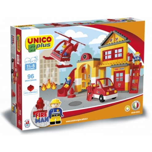 Set constructie Plus Set statie Pompieri - Unico