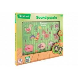Puzzle animale cu sunete Legnoland, Globo