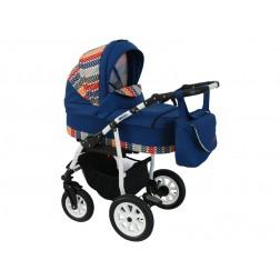 Carucior copii 3 in 1 MyKids Germany Albastru Inchis Color