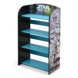 Raft carti si jucarii cu cadru din lemn Star Wars