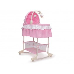 Leagan cu landou 3 in 1 Moni Bassinet Nap Pink