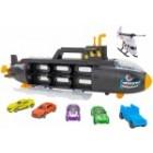 Submarin Rechin negru Globo Wtoy cu 6 masinute incluse multicolor