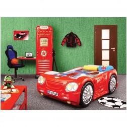 Pat si dulap camera copii - Plastiko - Rosu