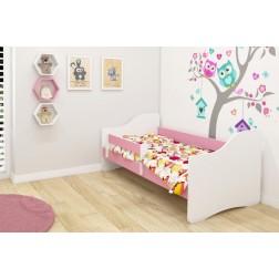 MyKids Patut Tineret Happy III  White-Pink - 140x70