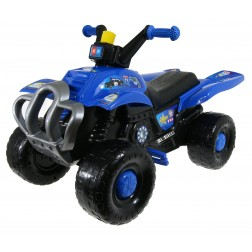 Quad cu pedale pentru copii Blue Police Super Plastic Toys