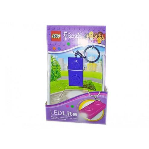 Breloc cu lanterna LEGO Friends placa indigo (LGL-KE52F-I)
