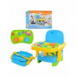 Scaun inaltator pentru copii cu tavita de activitati muzicala Winfun
