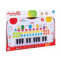 Pianina cu baterii si sunete de animale pentru copii - Globo