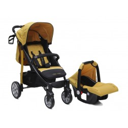 Carucior copii 2 in 1 Cangaroo Arrow Mustard
